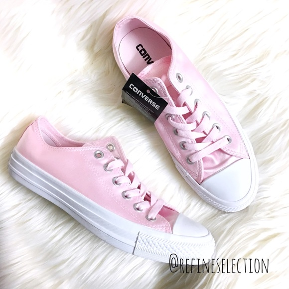 Converse All Star Ox Leather Infant Arctic Rose Gold